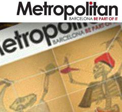 Reportaje destacado en la publicación de cultura, actualidad y tendencias Metropolitan mayo 2012. Imagen portada