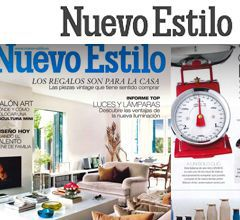 Reportaje destacado en la publicación de especializada en decoración Nuevo Estilo setiembre 2013. Imagen portada