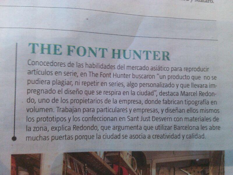 Artículo sobre nosotros en el diario de información general La Vanguardia en febrero de 2014