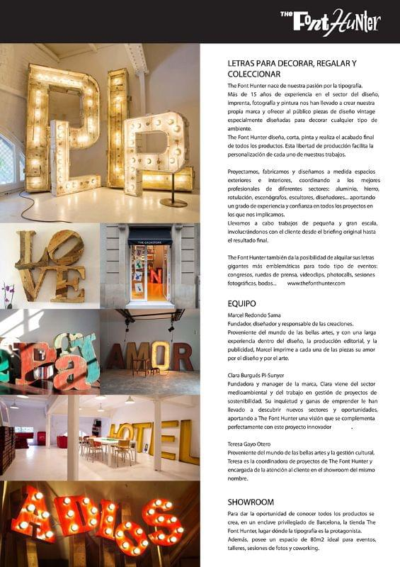 Dossier nota de prensa año 2014. The Font Hunter
