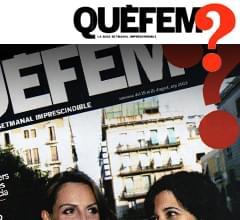 Artículo en el suplemento semanal QUÉ FEM de La Vanguardia en octubre de 2014. Imagen portada