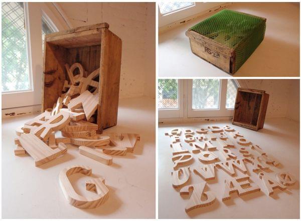 Caja conjunto letras de madera Mi Primer Abecedario. Infantil