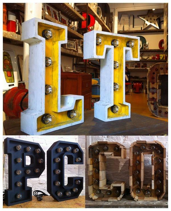 Montaje letras conjuntos de 2 letras. Ideal para regalo de boda