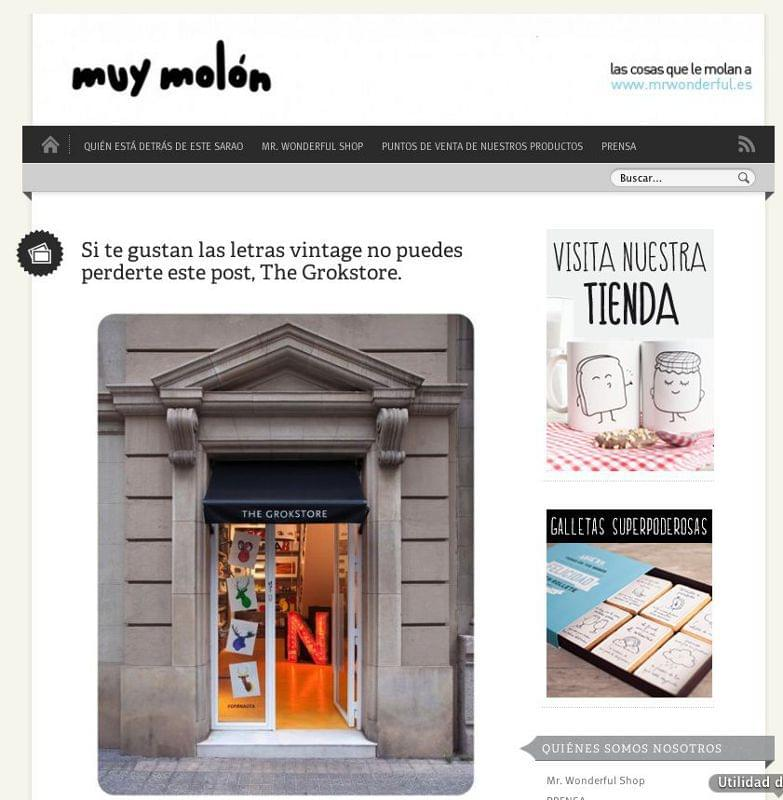 Reportaje The Font Hunter en la web de tendencias muymolón