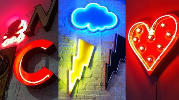 Montaje imágenes diferentes neones
