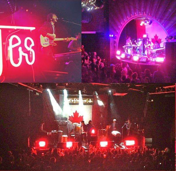 Montaje concierto Sidonie letras neon