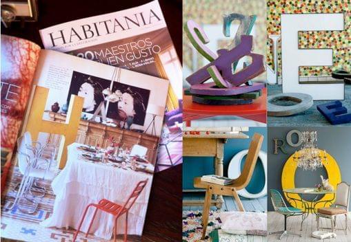 Muestra de nuestros trabajos para decoración de espacios interiores en la revista especializada en decoración Habitania en agosto de 2012