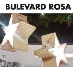 Imagen decoración Navidad Bulevard Rosa. Detalle estrellas de madera con iluminación intermitente. Portada