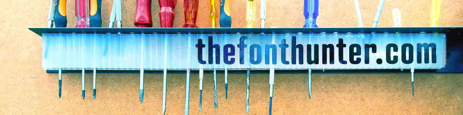 The Font Hunter Header